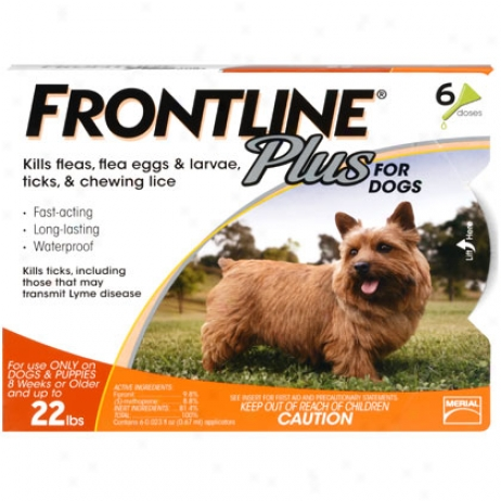 Frontline Plus 6pk For Small Dogs Up To 22 Lbs