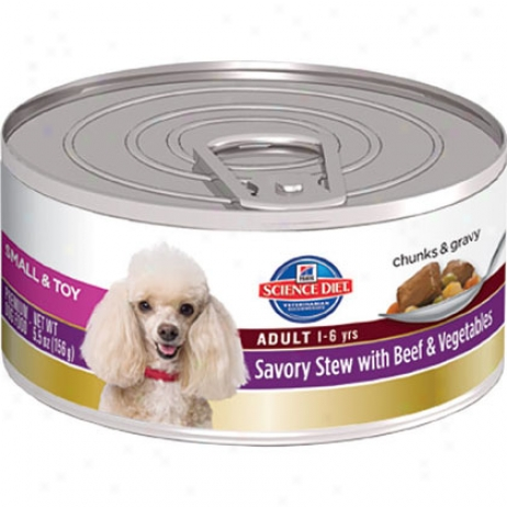 Hill's Science Diet Adult Small & Toy Breeds Savory Stew Canned Dog Food