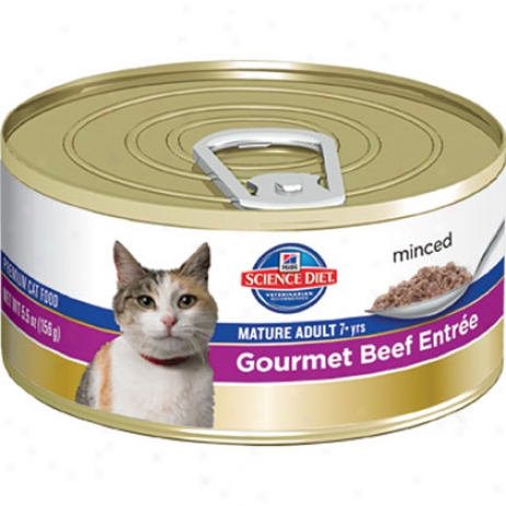 Hill's Science Diet Mature Person of mature age Entree Minced Canned Cat Food