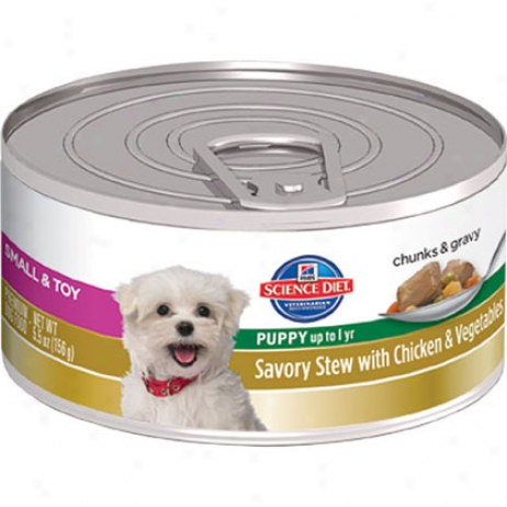 Hill's Science Diet Puppy Smal & Toy Breed Savory Stew Canned Puppy Food