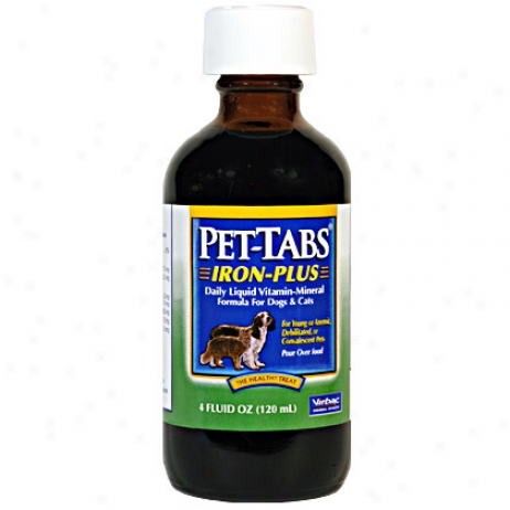 Pet Tabs Iron Plus Liquid 4oz Bottle