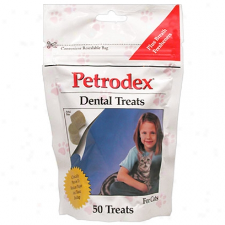 Petrodex Dental Trreats For Cats 50 Ct
