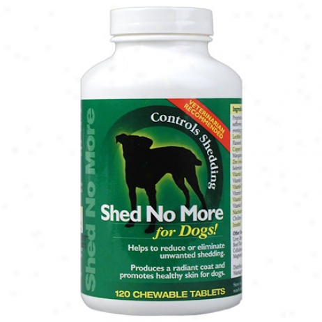 Shed None More Chewable Tablets For Dogs 120 Ct