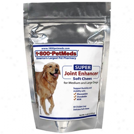 Super Joint Enhancer Soft Chews 60ct For Medium & Large Dogs
