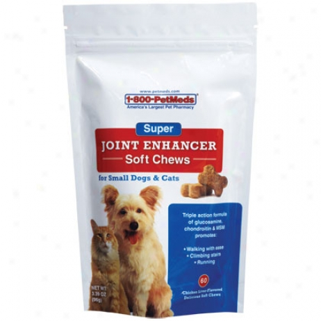 Super Joint Enhancer Soft Chews 60ct For Small Dogs & Cats