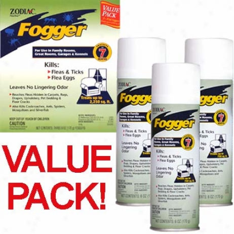 Zodiac (3) 6oz Foggers Triple Pack