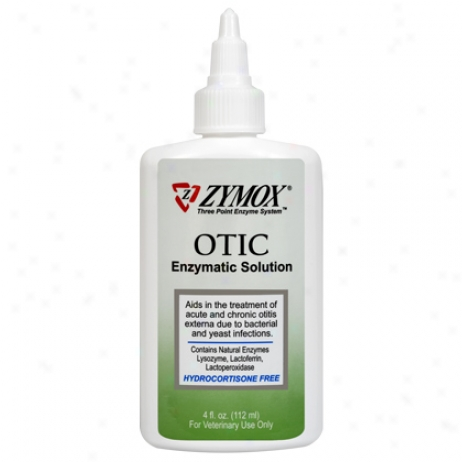 Zymox Otic Hydrocortisone Free 1.25 Oz Bottle