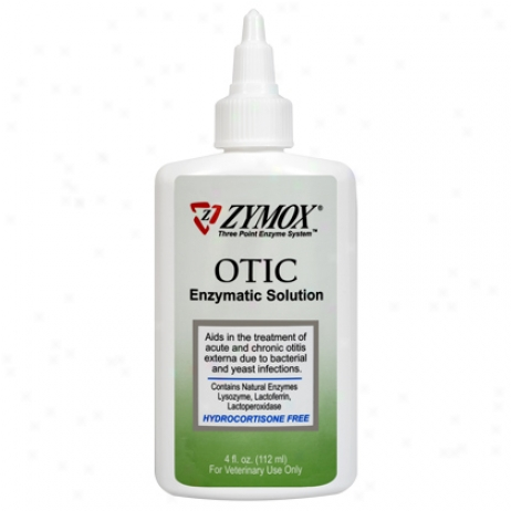 Zymox Otic Hydrocortisone Free 4 Oz Bottle