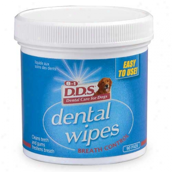 8 In 1 Dds Dental Wipes - 90 Pads
