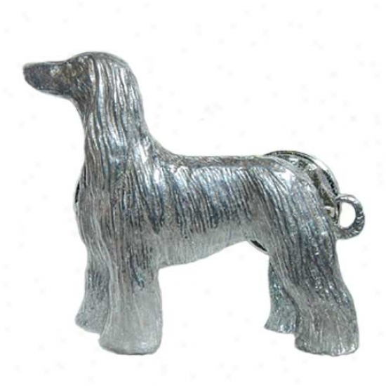 Afghan Hound Pewter Pin