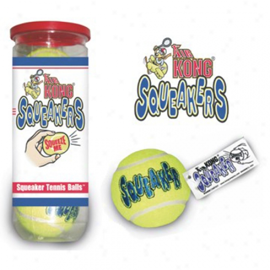 Air Kong Squeaker Tennis Balls, 3pack