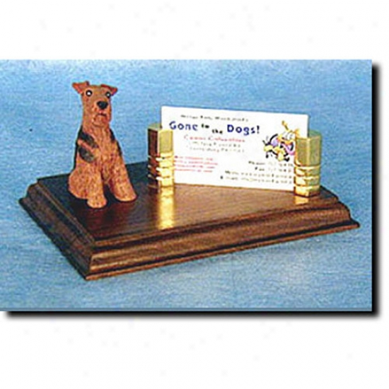 Airedale Business Card Holder