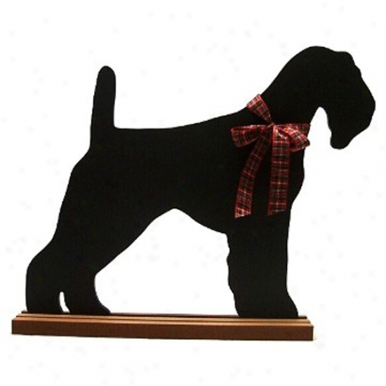 Airedale Terrier Blackboard - Wall Model