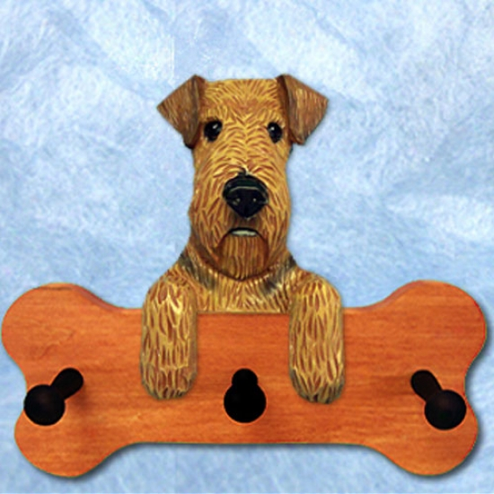Airedale Terrier Bone Hang Up Maple Polishing