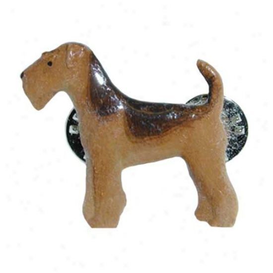 Airedale Terrier Hand Painted Fasten