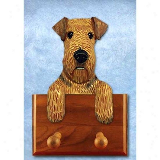 Airedale Terrier Lesh Holder