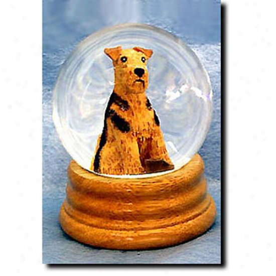 Airedale Terrier Musical Snow Globe
