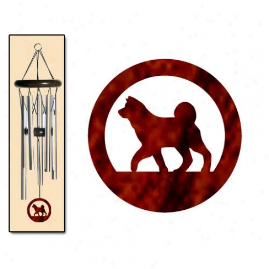 Akita Wind Chimes Small Gentle