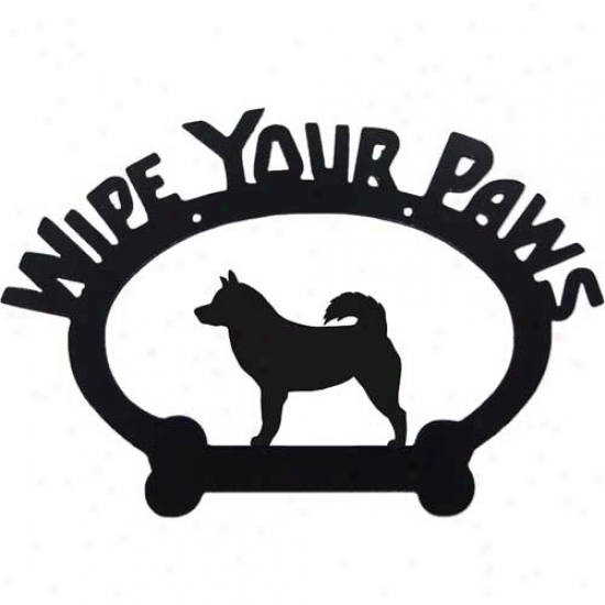 Alaskan Malamute Wipe Your Paws Decorative Sign