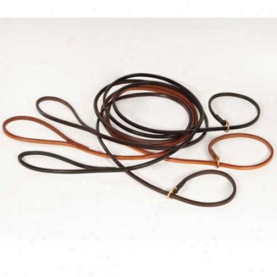 Alvalley Flat Leather Slip Lead 1/4 Inch By 4 Foot Black