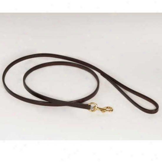 Alvalley Flat Leather Bite Lead 1/4 Inch By 4 Foot Black