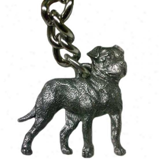 American Bulldog George Harris Pewter Keychain