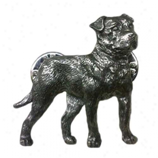 American Bulldog Pewter Pin