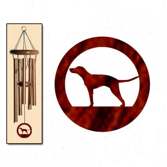 Americna English Coonhound Wind Chimes Small Bronze