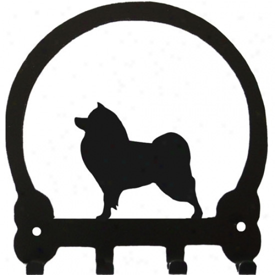 American Eskimo Dog Key Rack By Saeeney Ridge