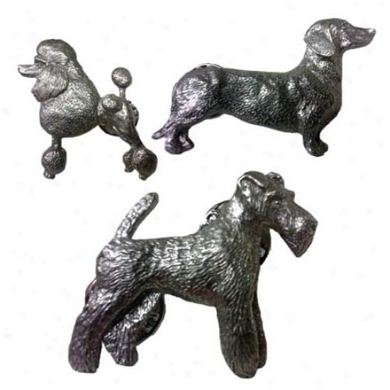 American Eskimo Dog Pewter Pin