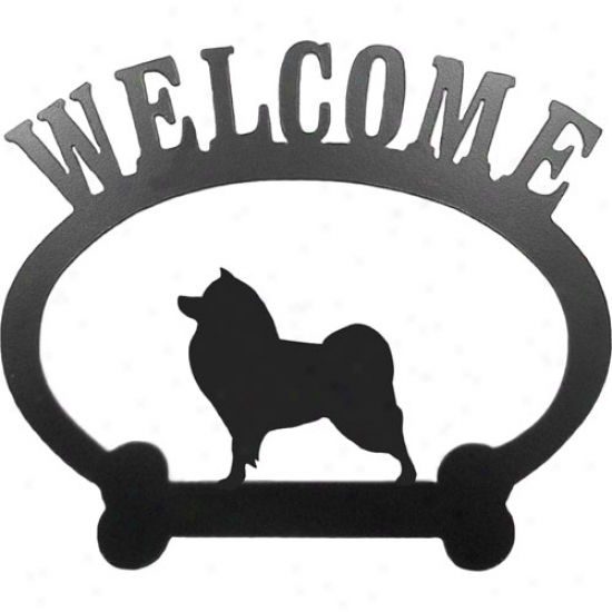 American Eskimo Dog Welcome Sign By Sweeney Ridge