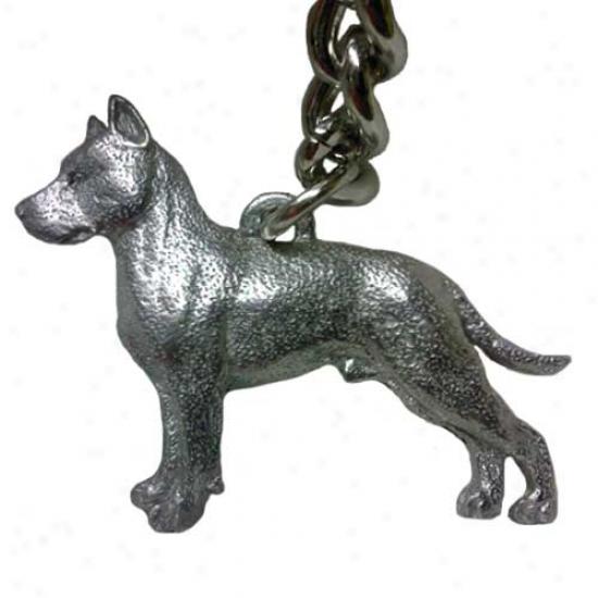 American Staffordshire Terrier George Harris Pewter Keycjain