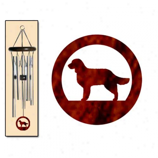 American Water Spaniel Wind Chimes Small Silver