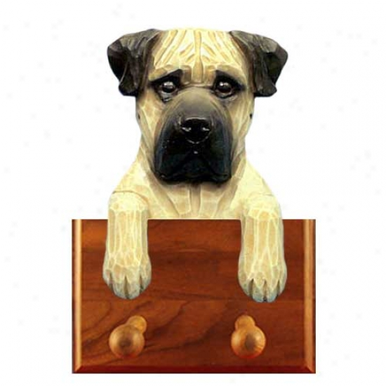 Apricot Bullmastiff Leash Holder