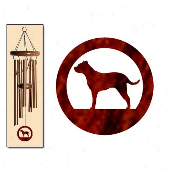 Argentine Dogo Wind Chimes Small Bronze