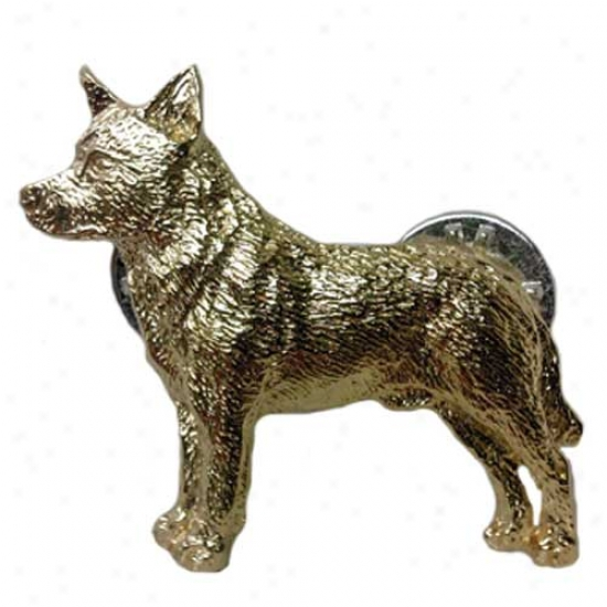 Australian Cattle Dog Pin 24k Gold Plated