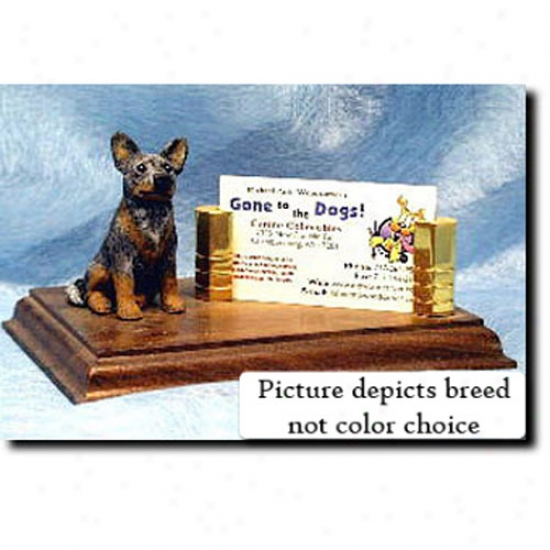 Australian Cattle Dog (red Merle) Business Card Holder