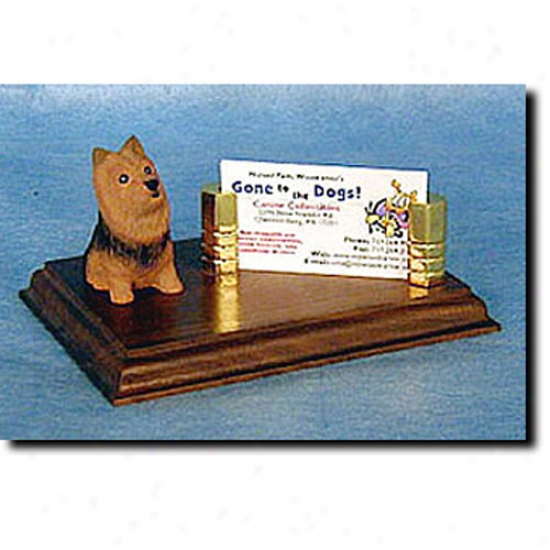 Australian Terrier  Calling Card Holder