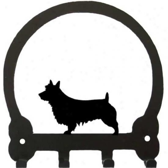 Australian Terrier Key Rack By Sweeney Ridge