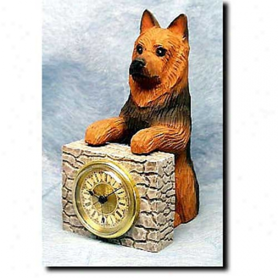 Australian Terrier Mantle Clock