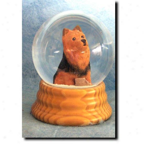 Australian Terrier Melodious Snow Globe