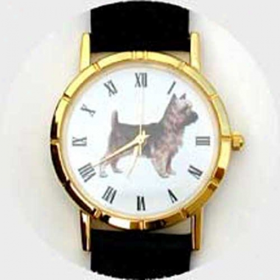Australian Terrier Watch - Small Face, Black Leather