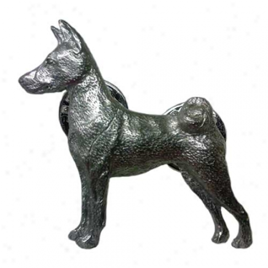 Basenji Pewter Pin