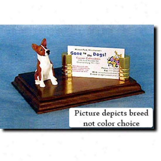 Basenji (tri) Business Card Holder