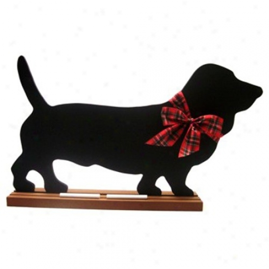 Basset Hound Blackboard - Table  Model