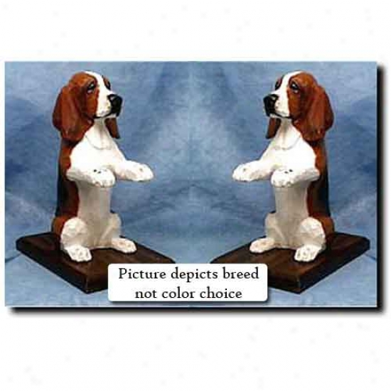 Basse5 Hound Bookends Red And White