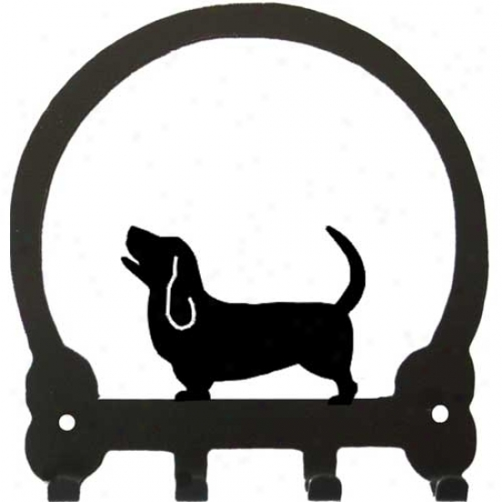 Basset Hound Key Rack By Sweeney Ridge