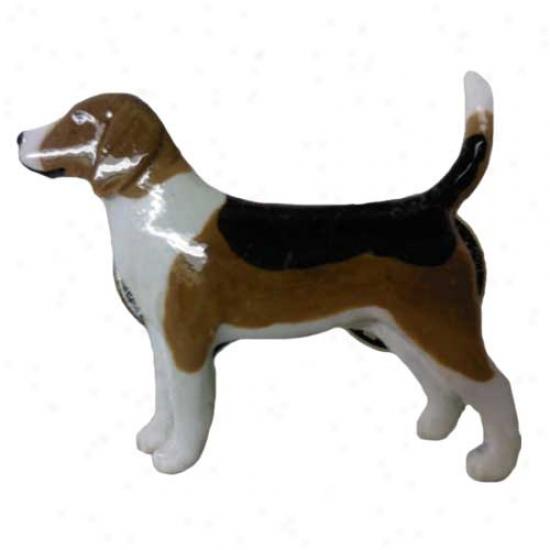 Beagle Hand Painted Pin