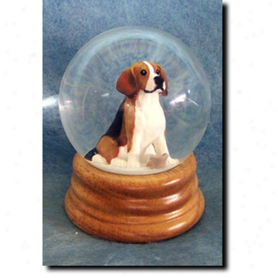 Beagle Musical Snow Globe
