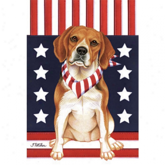 Beagle Patriotic Breed Garden Flag